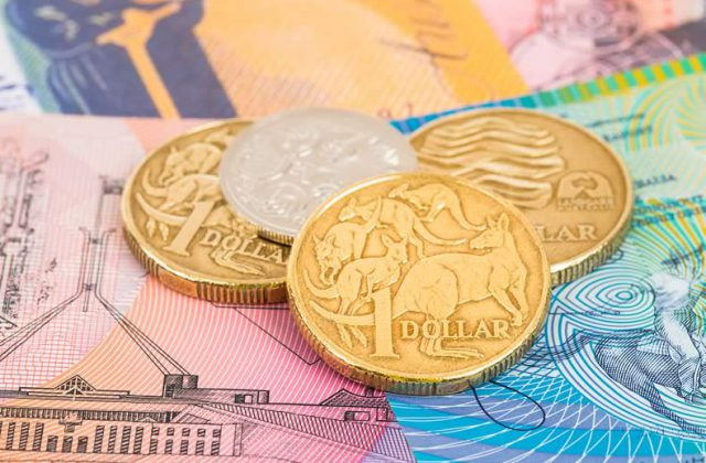 Australian Dollar Us Aud Usd Exchange Rate Le On Rising Treasury Yields